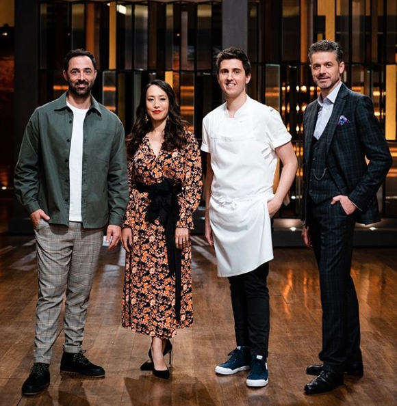 Josh Niland on MasterChef with the rest of the judges