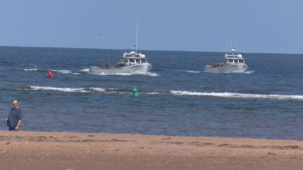 The channel created for fishing boats has made the beach dangerous for swimming. (Brian Higgins/CBC - image credit)
