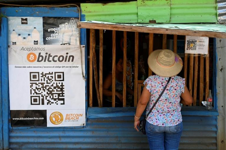 El Salvador is the first country to adopt a cyber currency as legal tender, along with the US dollar which has been the official currency for two decades (AFP/MARVIN RECINOS)