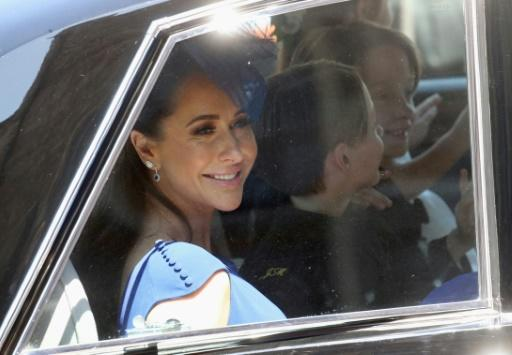 Canadian fashion stylist Jessica Mulroney, seen arriving for Meghan Markle's wedding to Britain's Prince Harry on May 19, 2018, has apologized over the row