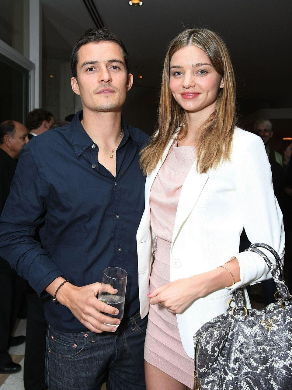 <p>The secret wedding between Orlando Bloom and Miranda Kerr took place in June 2010, only a month after they got engaged. The couple began dating in 2007 and have one son together named Flynn. They ended their relationship in 2013. </p>
