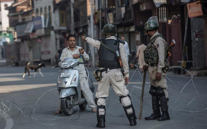 India's removal of autonomous status was accompanied by a major security crackdown - Xinhua News Agency / eyevine