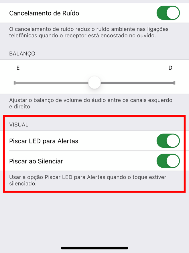 Para cada nova notificação, o LED do flash vai piscar. Captura de tela: Lucas Wetten (Canaltech)