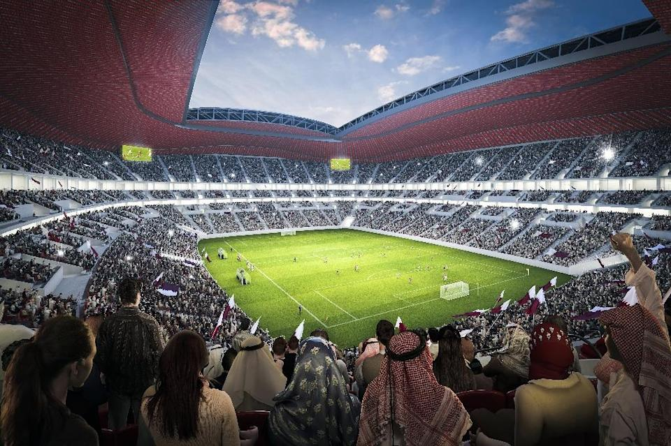A computer generated image of the stadium to be built in Al-Khor for the Qatar World Cup (AFP Photo/)