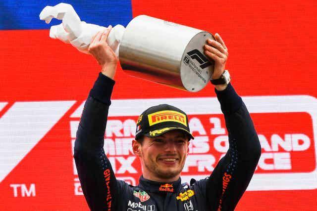 Red Bull driver Max Verstappen left it late to win the French Grand Prix