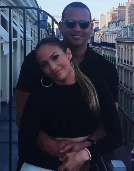 <p>The singer took to her Instagram in mid-June to post a slideshow of photos from her #baecation with A-Rod. The trip was filled with matchy-matchy looks, including this one. (Photo: Instagram/jlo) </p>