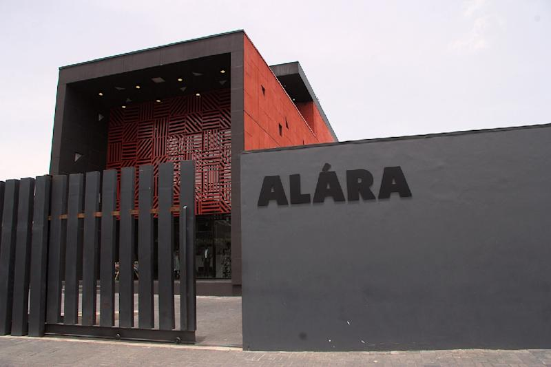 The facade of Alara, a new retail concept store on Victoria Island in Lagos (AFP Photo/Emmanuel Arewa)
