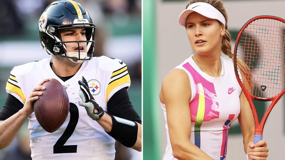 Eugenie Bouchard and Mason Rudolph, pictured here in their respective sports.