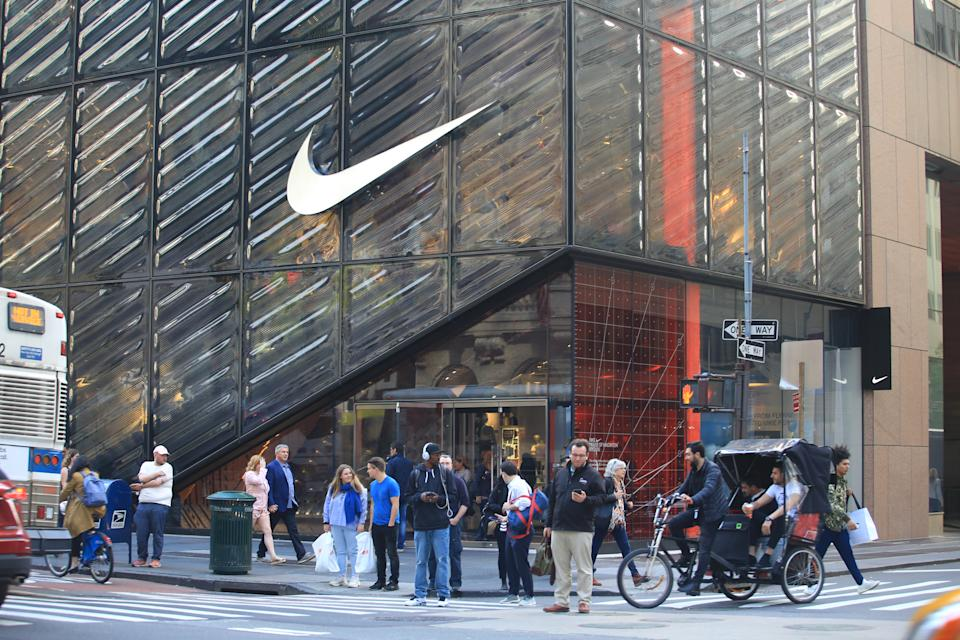 New York- 8 May 209:  the nike flagship facade in new york.  nike is one of the biggest sport manufacturing company in the world.