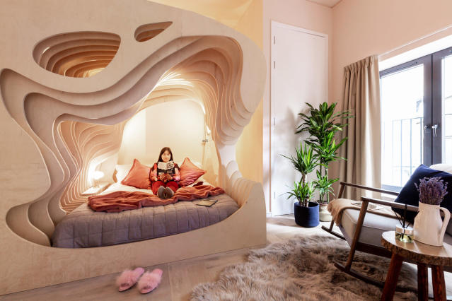 The Womb Room is designed to give guests a great night's slumber [Photo: Billy Bolton]