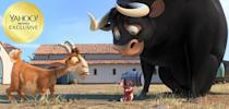 """<p><a rel=""""nofollow"""" href=""""https://www.yahoo.com/movies/tagged/john-cena"""" data-ylk=""""slk:John Cena"""" class=""""link rapid-noclick-resp"""">John Cena</a> voices a kindhearted bull who must journey across Spain (and inevitably end up in a china shop) after he's captured in the latest animated adventure from Blue Sky Studios (<em>Ice Age, Rio</em>). 