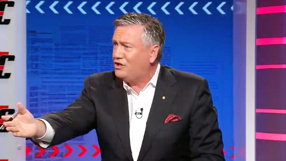 Eddie McGuire (pictured) reacting live on air to a question.