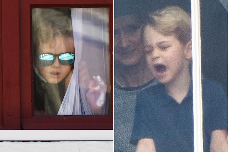Prince Jacques Copies Prince George's Window Moment