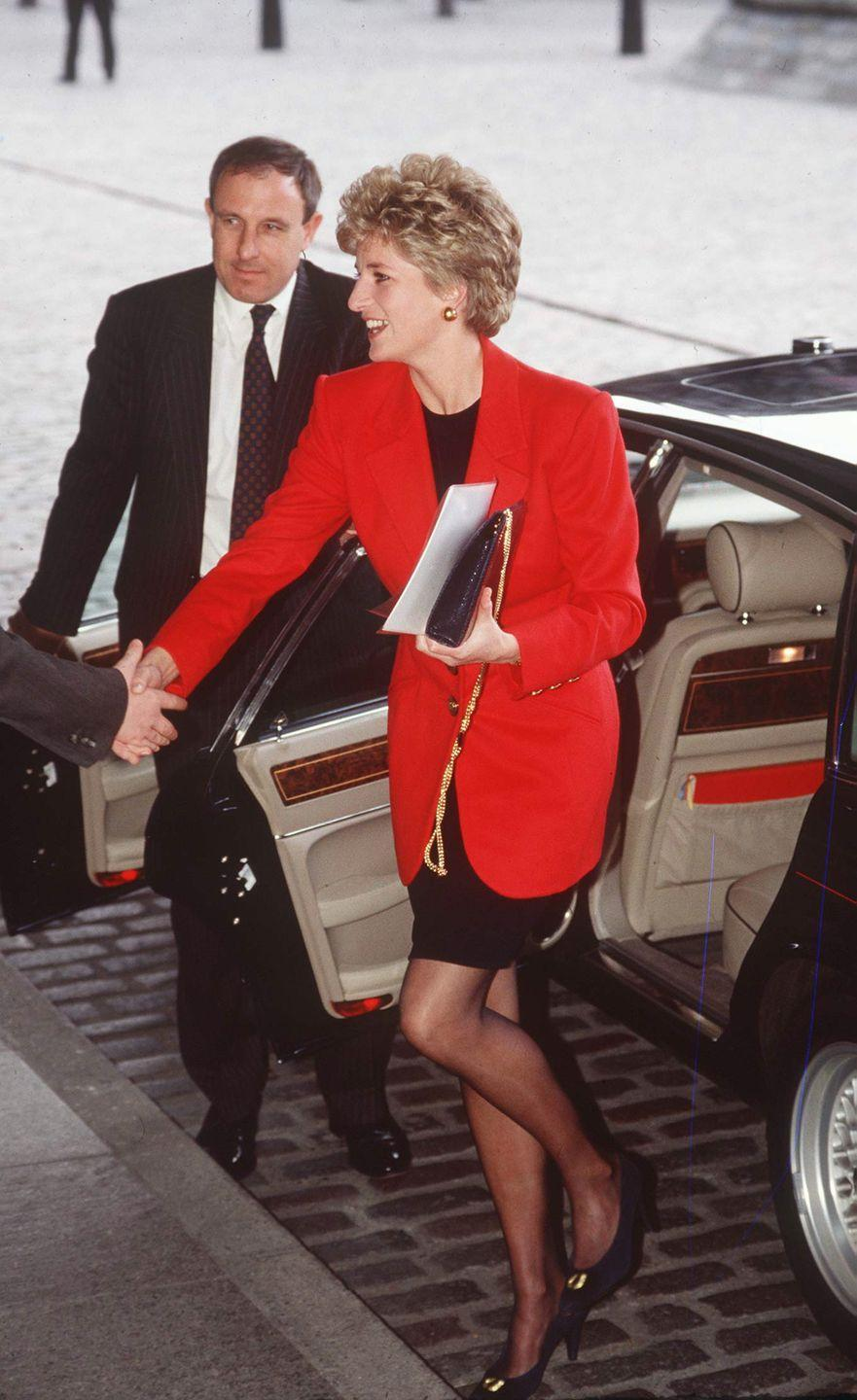 <p>LBD, meet the classic red blazer. Diana wowed in this head-turning outfit combination in March 1993.<br></p>