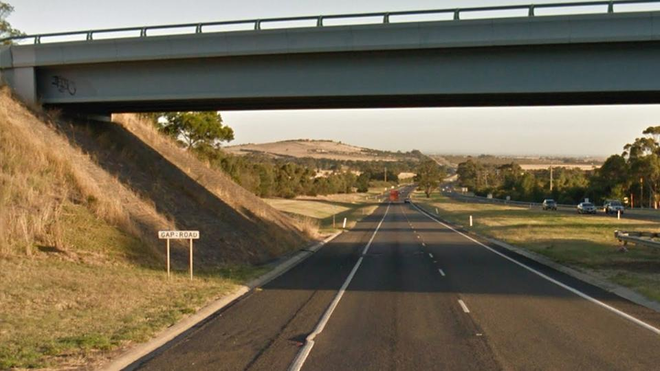 Picture of Calder Freeway, with Gap Road, overhead