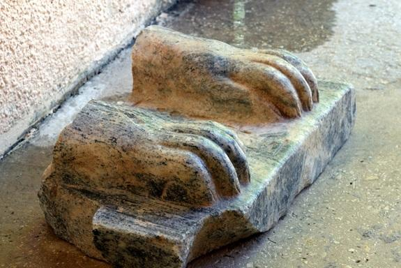 Pharaoh's Sphinx Paws Found in Israel