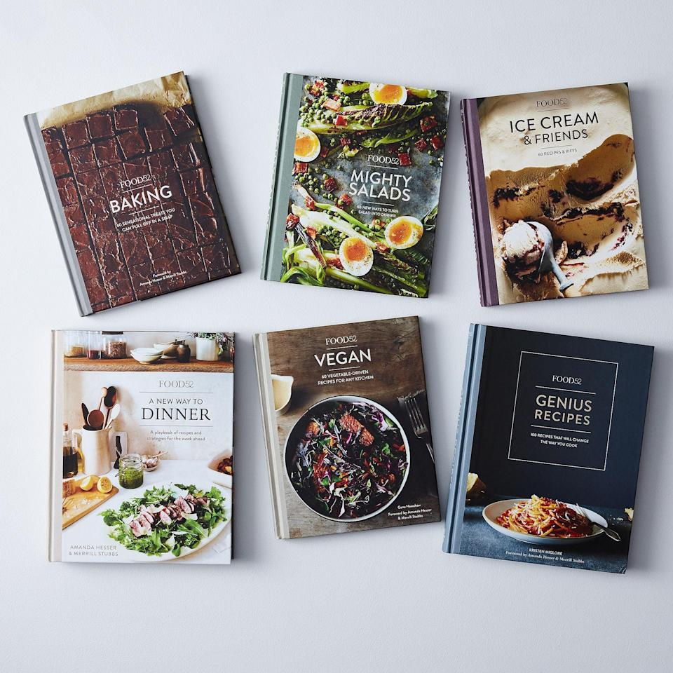 <p>These <span>Ten Speed Press Food52 Signed Cookbooks</span> ($162) are the ultimate gift set.</p>