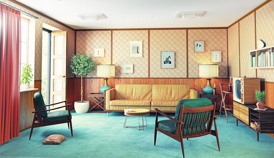 beautiful vintage interior.  3d renderin
