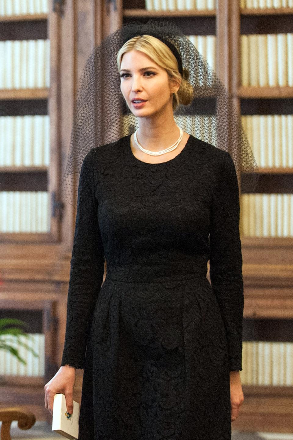 Ivanka Trump attends an audience with Pope Francis in May 2017. (Photo by Vatican Pool/Getty Images)