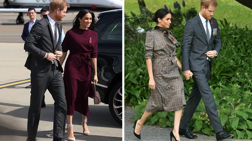 <p>Harry and Meghan have farewelled Australia and arrived in New Zealand for the final leg of their royal tour. Photos: Getty </p>