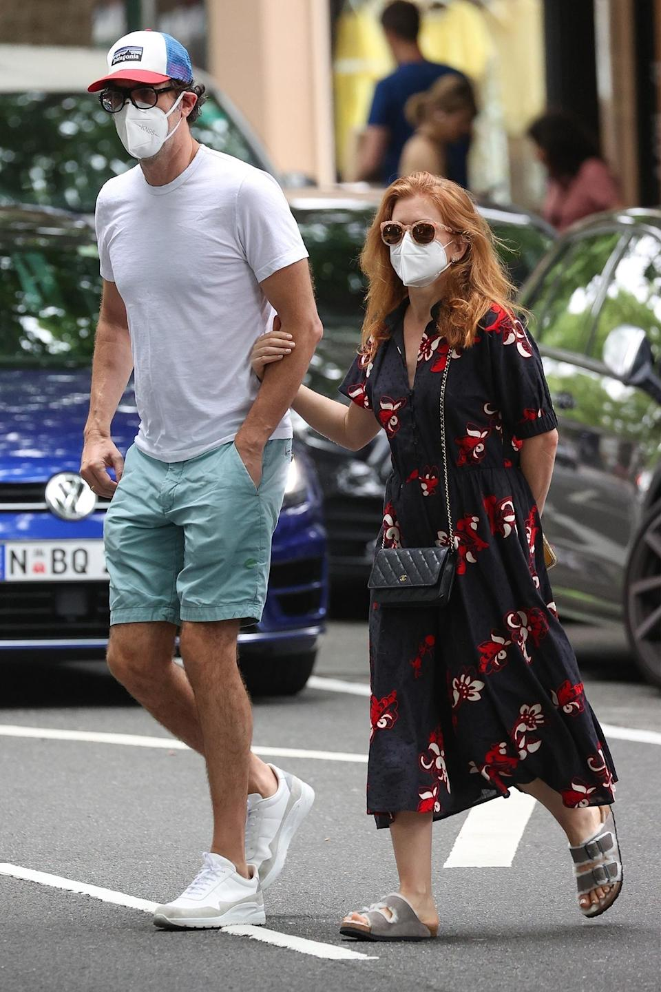 <p>Sacha Baron Cohen and Isla Fisher are out and about in Sydney, Australia.</p>