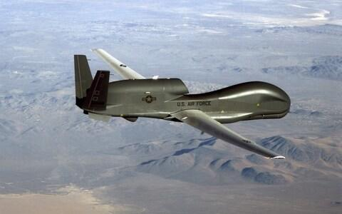 Photo of a US Air Force RQ-4 Global Hawk drone, similar to the RQ-4D variant purchased by Nato. - Credit: AFP