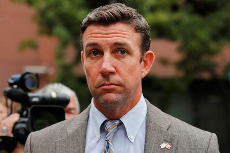 Congressman Duncan Hunter (R-CA), leaves federal court in San Diego, California, U.S. September 24, 2018.        REUTERS/Mike Blake