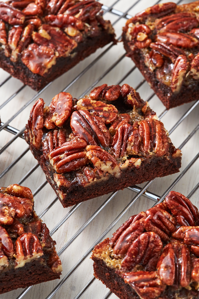 """<p>We're not willing to leave Pecan Pie behind at Thanksgiving, so we're baking these bars all the way through the holiday season.</p><p>Get the recipe from <a href=""""https://www.delish.com/cooking/recipe-ideas/recipes/a56925/pecan-pie-brownies-recipe/"""" target=""""_blank"""">Delish</a>.</p>"""