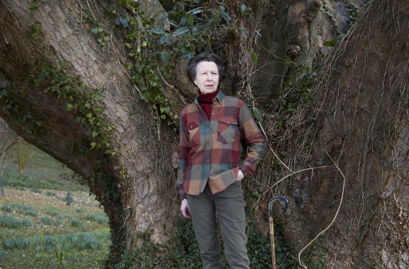 STROUD, UNITED KINGDOM - AUGUST 14: In this handout image released on August 14, 2020, Princess Anne, Princess Royal poses for a portrait at her home at Gatcombe Park in late February 2020. The images are being released as official photographs to celebrate the Princess's 70th birthday on Saturday. (Photo by John Swannell / Camera Press via Getty Images)