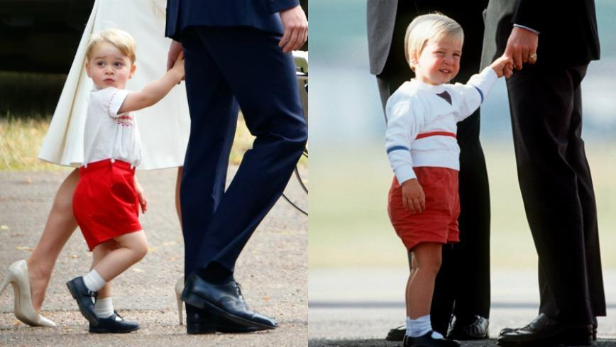 Red shoes, white top, black shoes? Tick! We can't handle how cute George and Will's look in these photos.