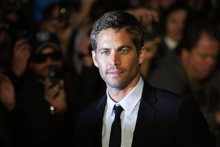 """Actor Paul Walker arrives for the British premiere of """"Fast & Furious"""" in Leicester Square in London"""