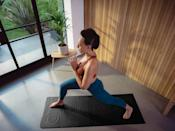 """<p>""""As producer of Class FitSugar, I've had the chance to see yoga mats in practice on hundreds of workout videos. Lululemon's <span>Take Form Yoga Mat</span> ($118) is an innovative new mat that is perfect for leveling up your practice. The mat features 3D zoned cushioning designed to enhance sensory perception with visual and tactile alignment cues.<br> The 3D water droplet-inspired zones guide optimal body positioning across the poses yogis identified as the most difficult to master. The tidal flow-inspired texture and contoured edges offer grip and stability for enhanced performance and functionality. - GF</p>"""