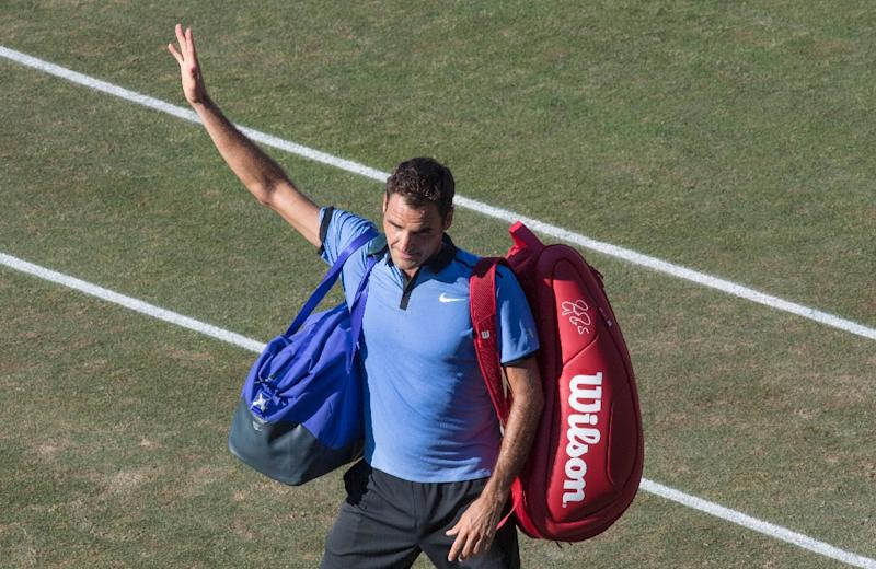 Roger Federer made an early exit on the grass in Stuttgart, Germany