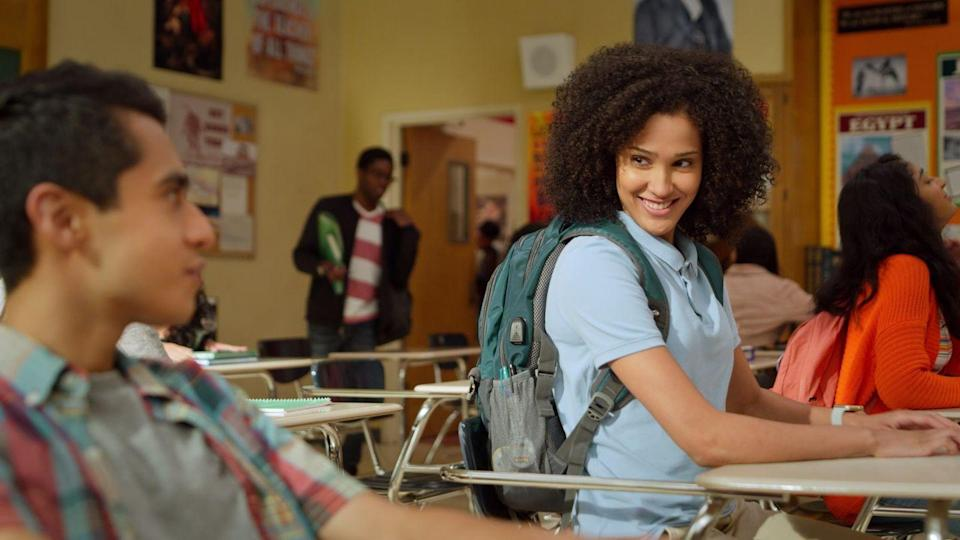 <p>In<em> Never Have I Ever,</em> Lee Rodriguez can be seen roaming the halls of her high school with her two best friends flaunting her beautifully defined curls. Seeing Black girls wear their curls confidently, especially in a high school setting, furthers the notion that there is no need to change who you are to fit in. </p>