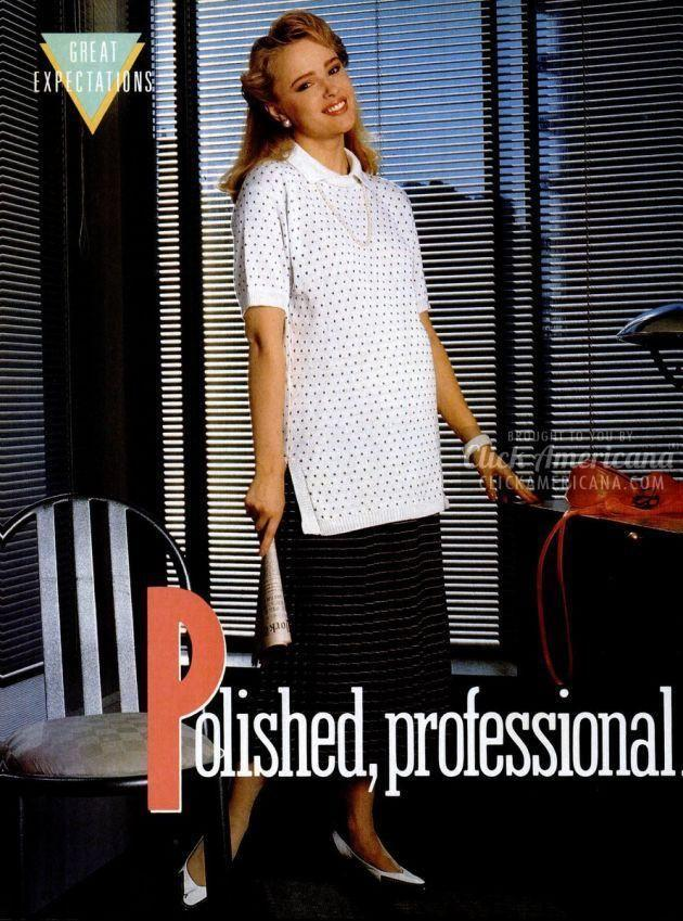 <p>As women were moving out of the domestic domain and into the career world more and more, finding workplace-appropriate maternity wear became a thing to consider for the first time.</p>