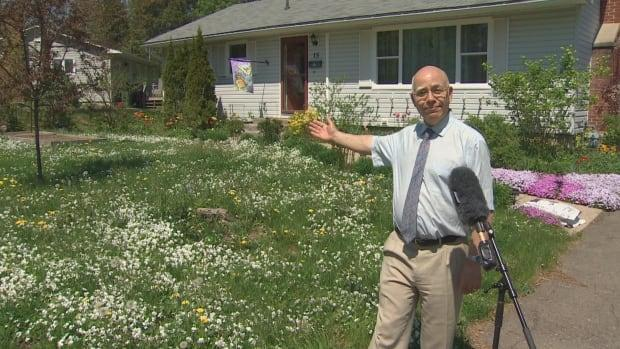 There's definitely no mowing going on at New Brunswick Green Party Leader David Coon's Fredericton home this May. Coon loves dandelions and welcomes the chance to do his part to help the bees.