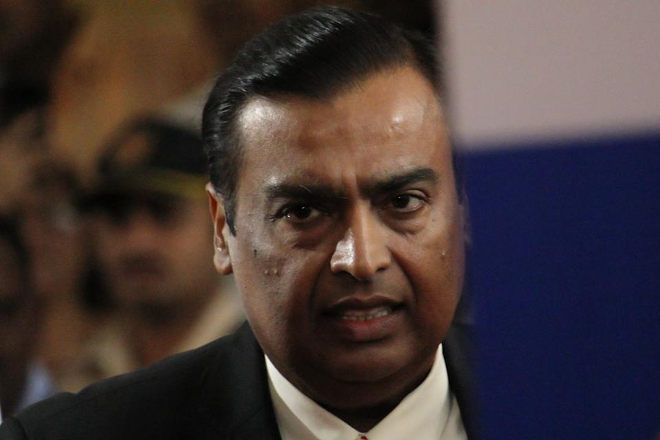 Chairman and Managing Director of Reliance Industries Mukesh Ambani arrives for 42nd Annual General Meeting in Mumbai, India on 12 August 2019. (Photo by Himanshu Bhatt/NurPhoto via Getty Images)