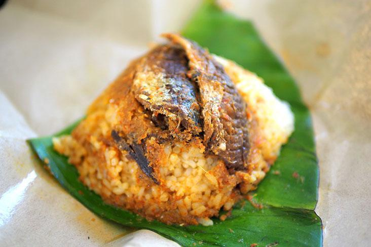 This particular home based entrepreneur cooks up 'nasi lemak' with local sardines