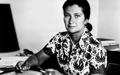 Then French Health Minister Simone Veil smoking in Paris in 1974 - Credit: AFP/Getty Images