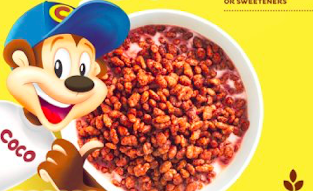 Coco the Monkey on a Kellogg's Coco Pops cereal box. (Kellogg's)