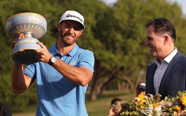 <span>Dustin Johnson wins in Austin last week</span> <span>Credit: Getty Images </span>
