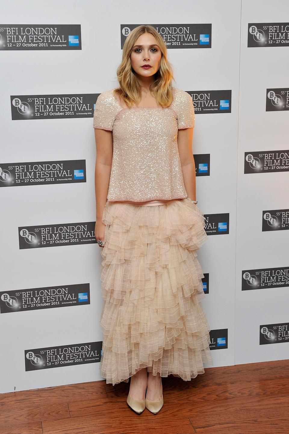 """Olsen at the """"Martha Marcy May Marlene"""" premiere on Oct. 21, 2011."""