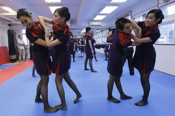 Airline trains cabin crew martial arts to deal with difficult passengers