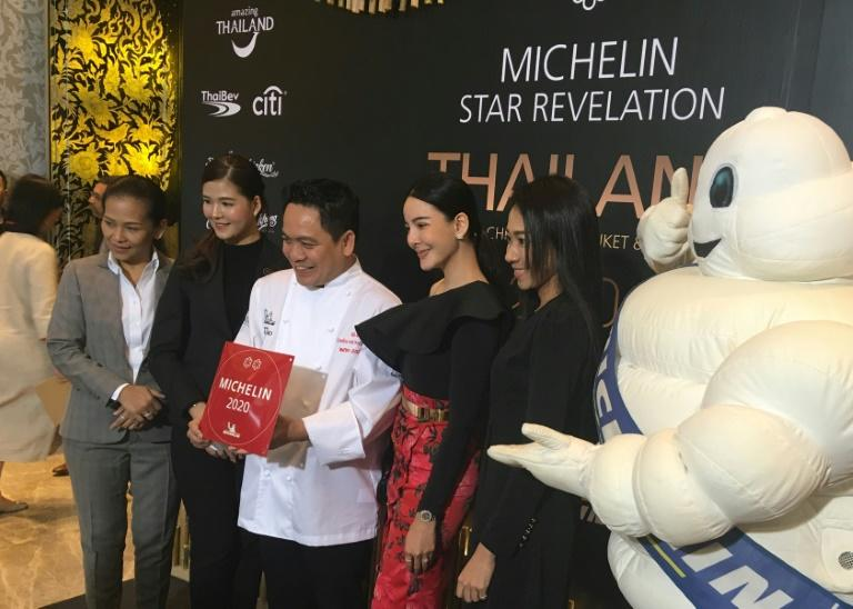 Thai chef Chumpol holds the two Michelin star certification given to him at an awards ceremony. Two restaurants in Thailand have become the first offering local cuisine to be so honoured