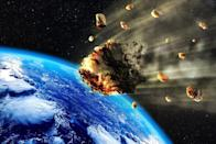 """Any vision of future threats has to consider that age-old bringer of global destruction, the asteroid. <a rel=""""nofollow noopener"""" href=""""https://cneos.jpl.nasa.gov/doc/1950da/"""" target=""""_blank"""" data-ylk=""""slk:NASA predicts"""" class=""""link rapid-noclick-resp"""">NASA predicts</a> that there is a slight chance (at most 1 in 300) that on March 16, 2880, a massive asteroid (nicknamed Asteroid 1950) will hit the Earth, bringing with it massive destruction. The chances of this happening are remote, but only time will tell. And for more on what the future holds, <a rel=""""nofollow noopener"""" href=""""https://bestlifeonline.com/this-is-what-life-could-look-like-years-from-now-2/?utm_source=yahoo-news&utm_medium=feed&utm_campaign=yahoo-feed"""" target=""""_blank"""" data-ylk=""""slk:This Is What Life Could Look Like 200 Years from Now"""" class=""""link rapid-noclick-resp"""">This Is What Life Could Look Like 200 Years from Now</a> <p><i>To discover more amazing secrets about living your best life, </i><a rel=""""nofollow noopener"""" href=""""https://www.instagram.com/bestlifeonline/"""" target=""""_blank"""" data-ylk=""""slk:click here"""" class=""""link rapid-noclick-resp""""><span><i>click here</i></span></a><i> to follow us on Instagram!</i></p>"""