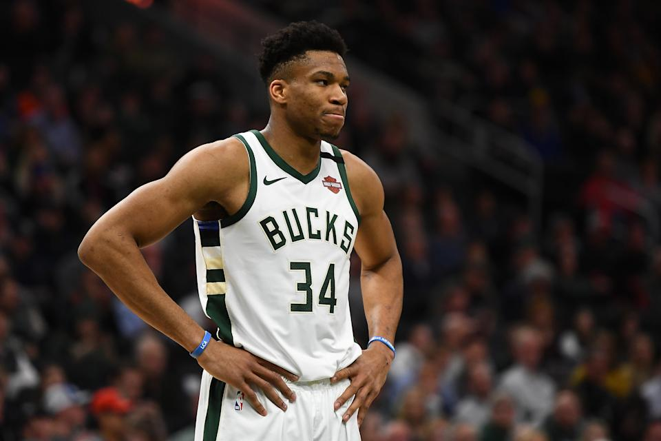 Milwaukee Bucks superstar Giannis Antetokounmpo can become a free agent at season's end. (Stacy Revere/Getty Images)