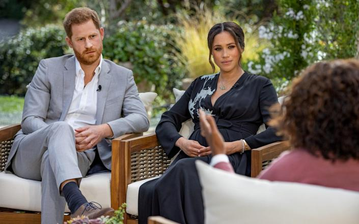 Prince Harry and Meghan, Duchess of Sussex, are interviewed by Oprah Winfrey - VIA REUTERS