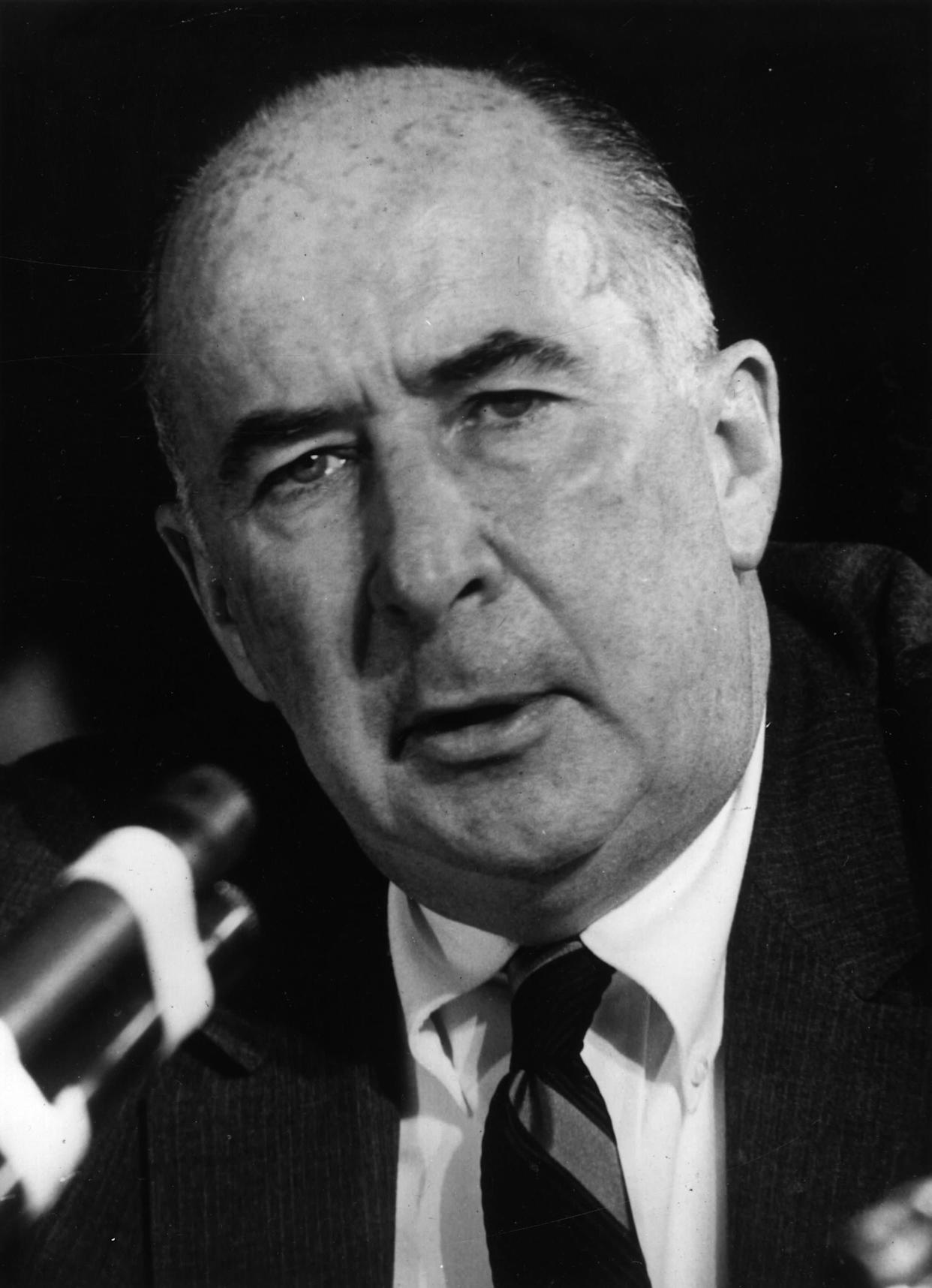 20th April 1973: American politician and former attorney-general John Mitchell, one of Richard Nixon's top aides, who faces charges in the Watergate scandal. (Photo by Keystone/Getty Images)