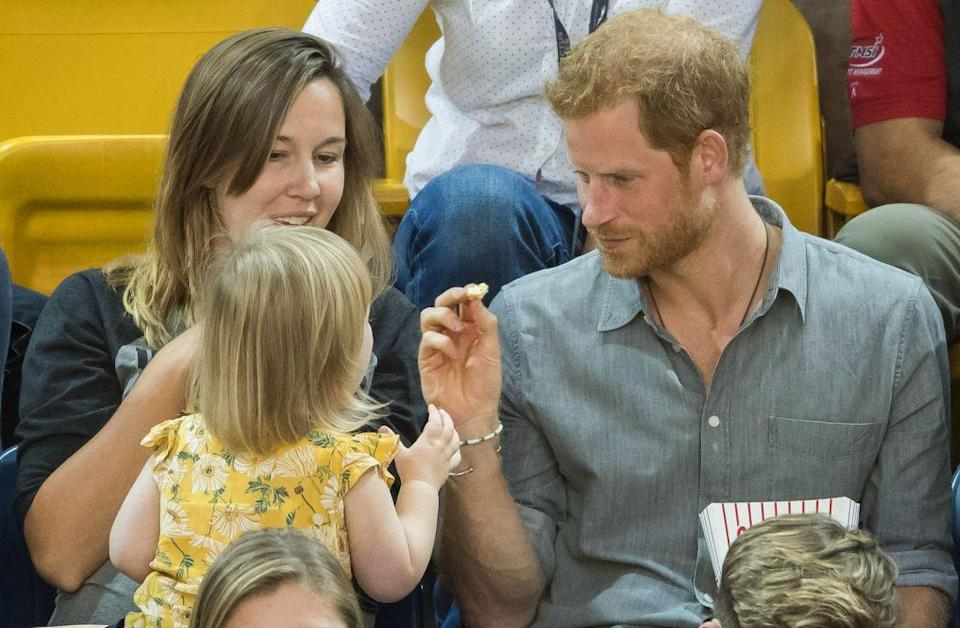<p>Royals are not allowed to accept food or drinks from strangers at unsanctioned events. Since they no longer travel with tasters, this rule is to protect them from being poisoned. </p>