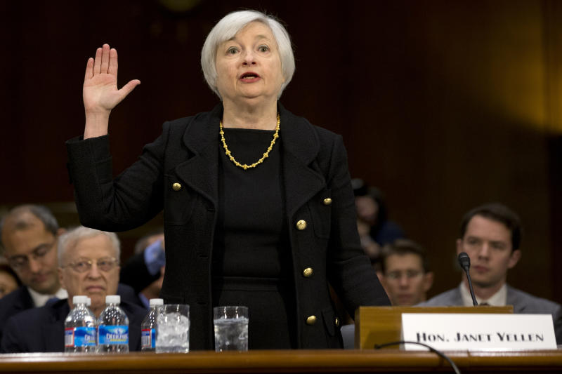Yellen stands by Fed's low rate policies